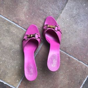 Authentic Gucci Heeled Sandal Size 11